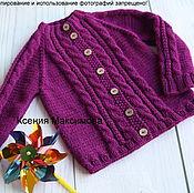 Работы для детей, handmade. Livemaster - original item Size 98 jacket violet. Handmade.