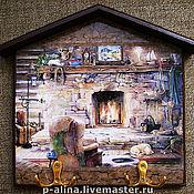 """Для дома и интерьера ручной работы. Ярмарка Мастеров - ручная работа Ключница вешалка """"Охотничий домик"""". Handmade."""
