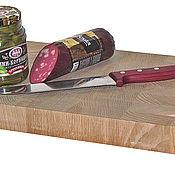 Для дома и интерьера ручной работы. Ярмарка Мастеров - ручная работа Разделочная доска для кухни торцевая 400х250х40мм. Handmade.