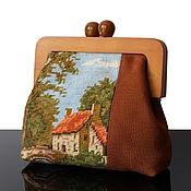 Сумки и аксессуары handmade. Livemaster - original item Vintage Large Tapestry clutch bag handmade vintage embroidered. Handmade.
