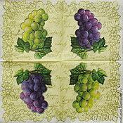 Материалы для творчества handmade. Livemaster - original item Napkins for decoupage grapes vine. Handmade.