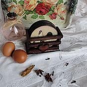Для дома и интерьера ручной работы. Ярмарка Мастеров - ручная работа Подставки для чашек  Петушки, декупаж. Handmade.
