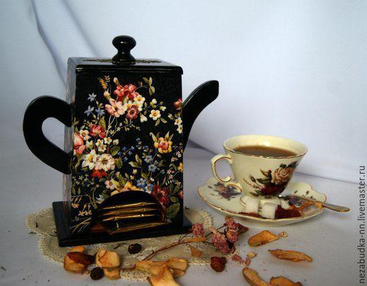 Чайный домик. Работа Натальи Будько под руководством мастера Екатерины Лебедевой. Работа представлена для иллюстрации заготовки, не продается.
