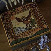 """Русский стиль ручной работы. Ярмарка Мастеров - ручная работа Шкатулка """"Птица Сирин святаго и блаженного рая"""". Handmade."""