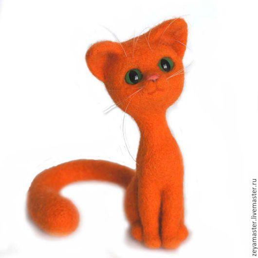 Игрушки животные, ручной работы. Ярмарка Мастеров - ручная работа. Купить Рыжая кошка. Игрушка из шерсти. Handmade. Кот