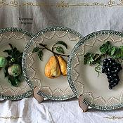 "Plates handmade. Livemaster - original item Тарелка декоративная "" Обласканные солнцем. Фрукты."". Handmade."