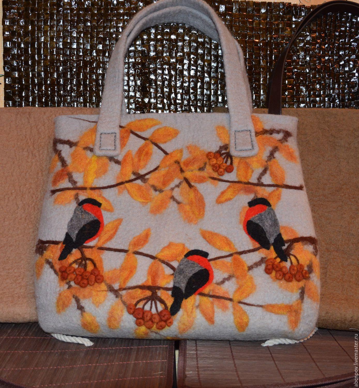 Bag of felt based on 'Snegirevo' with felt pens, Classic Bag, Liski,  Фото №1
