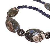 Украшения handmade. Livemaster - original item Necklace Silence. Llanite natural, 925 silver handmade Karen. Handmade.