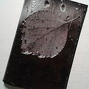 Канцелярские товары handmade. Livemaster - original item Passport cover traces of the fall Leaf Drop of rain. Handmade.