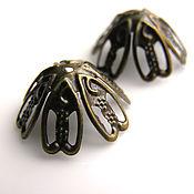 Материалы для творчества handmade. Livemaster - original item Cap beads filigree bronze. Handmade.