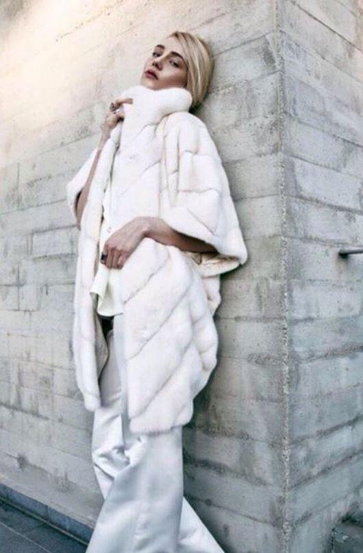 Верхняя одежда ручной работы. Ярмарка Мастеров - ручная работа. Купить Шубка зефир из норки белая.. Handmade. Серый
