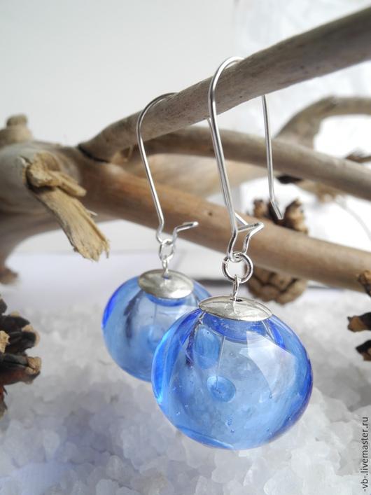 """Серьги ручной работы. Ярмарка Мастеров - ручная работа. Купить Серьги """"воздушные шарики"""" ручной работы из муранского стекла. Handmade."""
