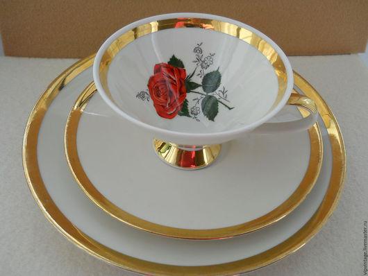 Винтажная посуда. Ярмарка Мастеров - ручная работа. Купить WINTERLING чайное трио  Роза. Handmade. Фарфор, чайное трио, winterling