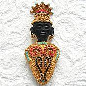 Брошь Принц Африки,Askew London,Англия,24k позолота,999 проба,подарок