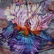Аксессуары ручной работы. Ярмарка Мастеров - ручная работа Платок-Батик``Цветок радуги``. Handmade.