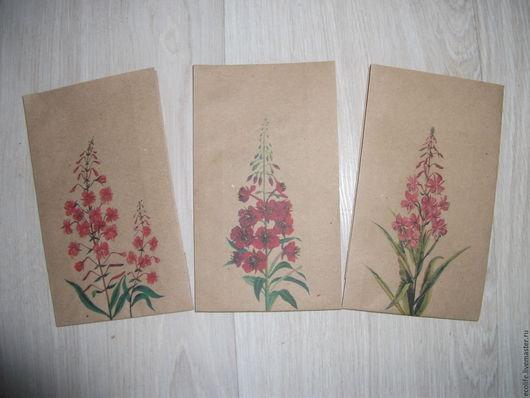 """Упаковка ручной работы. Ярмарка Мастеров - ручная работа. Купить Крафт пакеты """"Травы"""". Handmade. Коричневый, крафт-пакет, чай"""