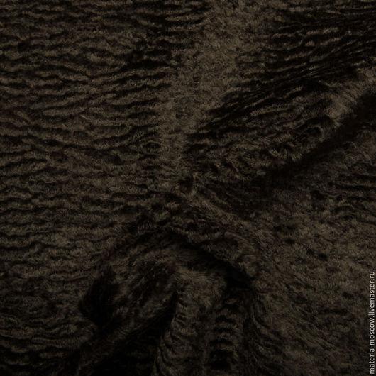 Шитье ручной работы. Ярмарка Мастеров - ручная работа. Купить Курточная ткань под каракульчу Армани. Handmade. Коричневый