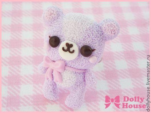 "Кольца ручной работы. Ярмарка Мастеров - ручная работа. Купить Кольцо ""Marshmallow Bear"". Handmade. Dolly house, скульптурная миниатюра"