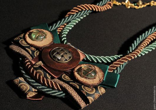 Колье, бусы ручной работы. Ярмарка Мастеров - ручная работа. Купить Колье из лент пуговиц и шнуров (артикул 596). Handmade.