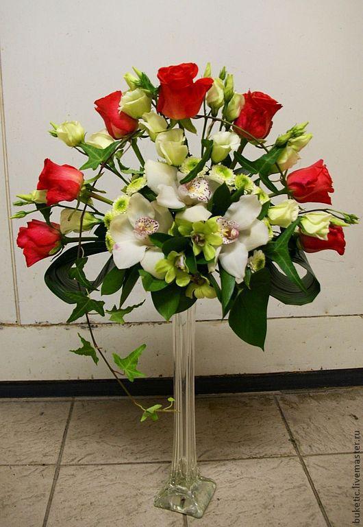 Свадебные цветы ручной работы. Ярмарка Мастеров - ручная работа. Купить Композиция для стола в форме веера. Handmade. Свадьба