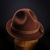 Аксессуары ручной работы. Ярмарка Мастеров - ручная работа Фетровая мужская шляпа тирольская. Handmade.