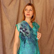 Одежда handmade. Livemaster - original item Vest felted Summer meadow. Handmade.