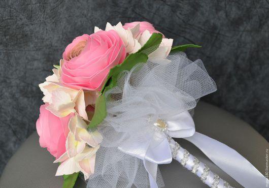 """Свадебные цветы ручной работы. Ярмарка Мастеров - ручная работа. Купить Свадебный букет """"Розовые мечты"""". Handmade. Комбинированный, фоамиран"""