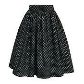 Одежда ручной работы. Ярмарка Мастеров - ручная работа Юбка Blueberry polka dot 60 см с карманами. Handmade.
