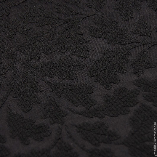 Шитье ручной работы. Ярмарка Мастеров - ручная работа. Купить Жаккард  хлопковый ДУБОВЫЙ ЛИСТ черный  Malhia Kent для  GUCCI. Handmade.