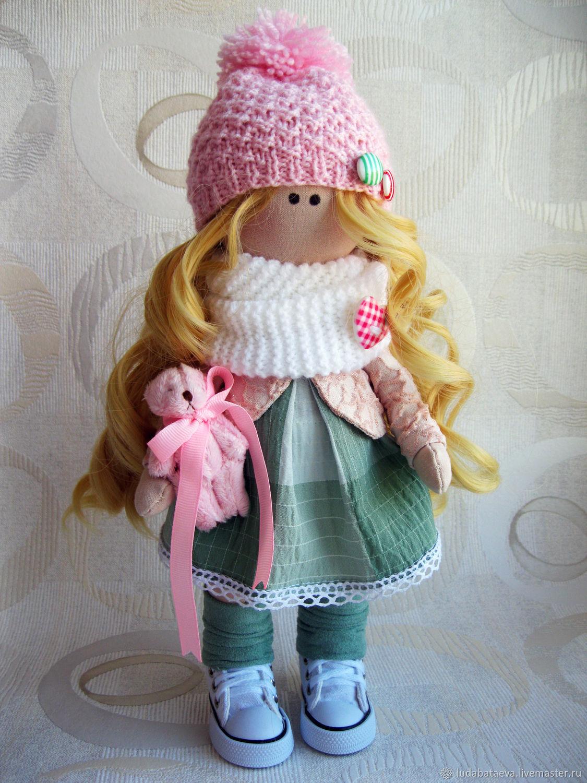 Nika's handmade textile interior doll. you can photograph, Portrait Doll, Chaikovsky,  Фото №1
