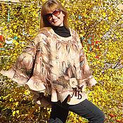 """Одежда ручной работы. Ярмарка Мастеров - ручная работа Пончо """"Любимое"""". Handmade."""