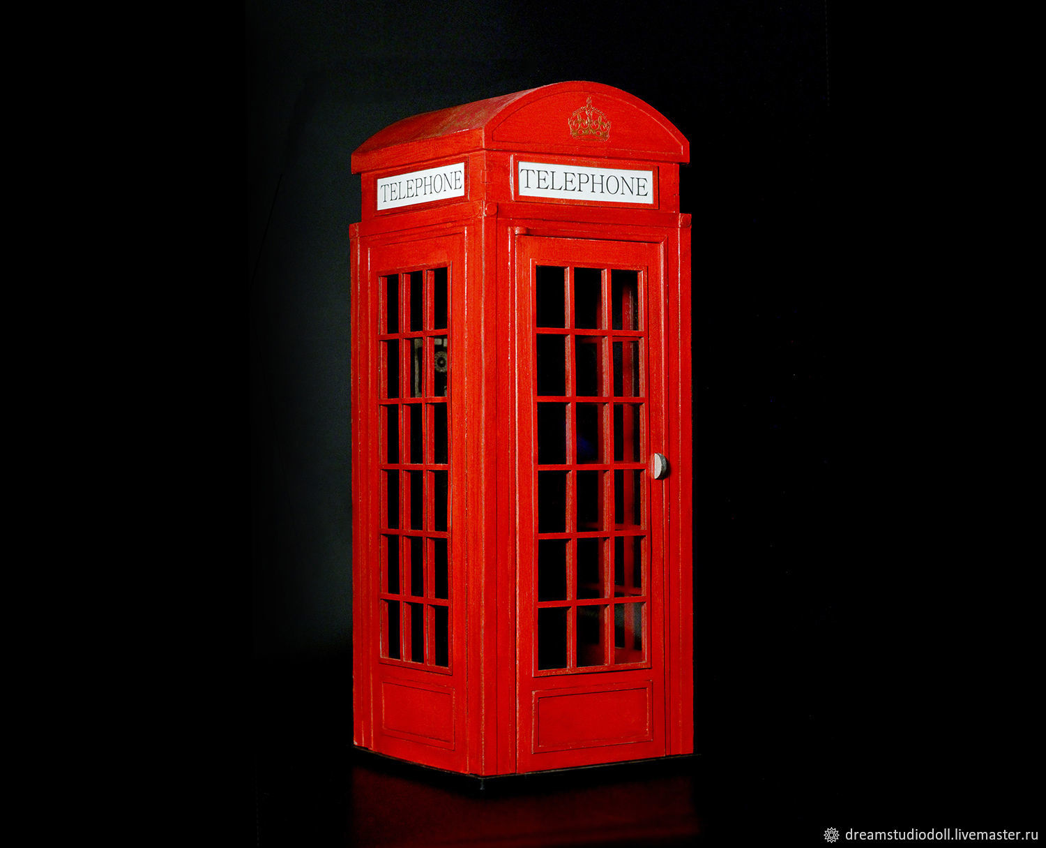 London telephone booth for dolls 1:6 (Barbie, etc.)), Doll furniture, St. Petersburg,  Фото №1