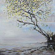 Картины ручной работы. Ярмарка Мастеров - ручная работа Одинокое дерево. Масло. Handmade.