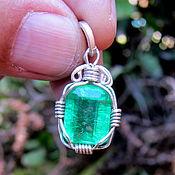 Украшения handmade. Livemaster - original item emerald necklace emerald pendant colombian emerald. Handmade.
