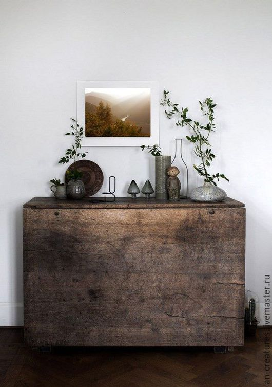 Стильное оформление Вашего интерьера и дорогих Сердцу предметов\ Снимок из серии `Пейзажи` в интерьере © Angelika Nabokova