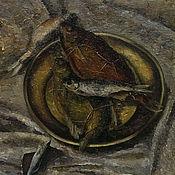 Картины и панно ручной работы. Ярмарка Мастеров - ручная работа Рыбка, масло, холст, 60х80см. Handmade.
