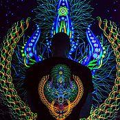 Субкультуры handmade. Livemaster - original item Luminous transcendental painting