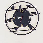 Для дома и интерьера ручной работы. Ярмарка Мастеров - ручная работа Часы из дерева с Львами. Handmade.