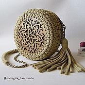 Классическая сумка ручной работы. Ярмарка Мастеров - ручная работа Вязаная круглая сумочка. Handmade.