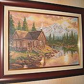Картины и панно ручной работы. Ярмарка Мастеров - ручная работа Вечер в горах. Handmade.
