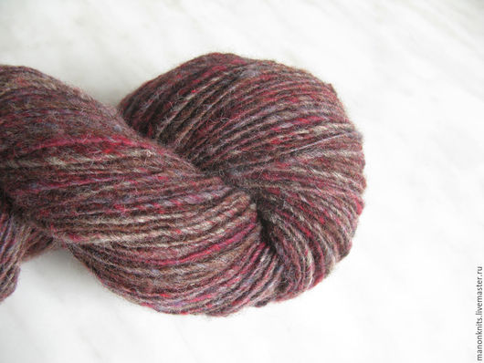 Вязание ручной работы. Ярмарка Мастеров - ручная работа. Купить Пряжа для  ручного вязания Nature шерсть 100% бордовый. Handmade.