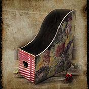 "Magazine rack handmade. Livemaster - original item ""Тюльпаны"" Подставка для бумаг. Handmade."