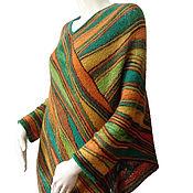 """Одежда ручной работы. Ярмарка Мастеров - ручная работа Пончо """"Зелёный шум -2"""". Handmade."""