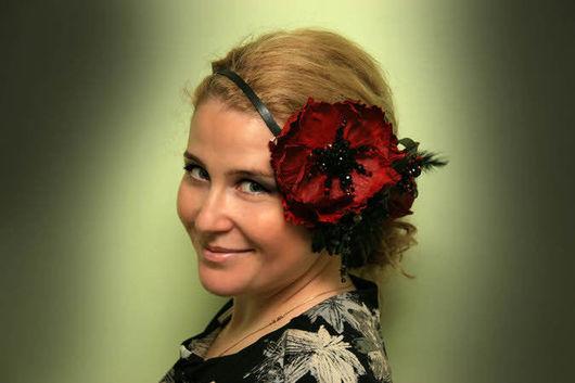 Tiaras & Headbands handmade. Livemaster - handmade. Buy Headband 'Sultry evening' art. 19VR51.Headband, a chic accessory