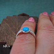 Украшения handmade. Livemaster - original item Silver ring with turquoise. Handmade.