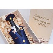 Подарки к праздникам handmade. Livemaster - original item Gift to the man on February 23, cover for a gift bottle. Handmade.