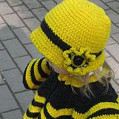 Аксессуары ручной работы. Ярмарка Мастеров - ручная работа Пончо и шляпка «Пчелка». Handmade.