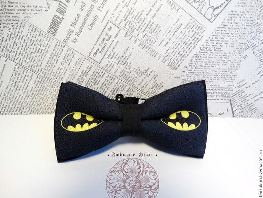 Галстуки, бабочки ручной работы. Ярмарка Мастеров - ручная работа. Купить Галстук - бабочка Бэтмен/ бабочка с Бэтменом/ BATMAN/ супергерой. Handmade.