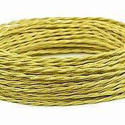 Дизайн ручной работы. Ярмарка Мастеров - ручная работа Провод витой для наружной проводки 2х0,75 желтый. Handmade.