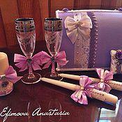 """Свадебный салон ручной работы. Ярмарка Мастеров - ручная работа Свадебный набор """"Purple Romance"""". Handmade."""
